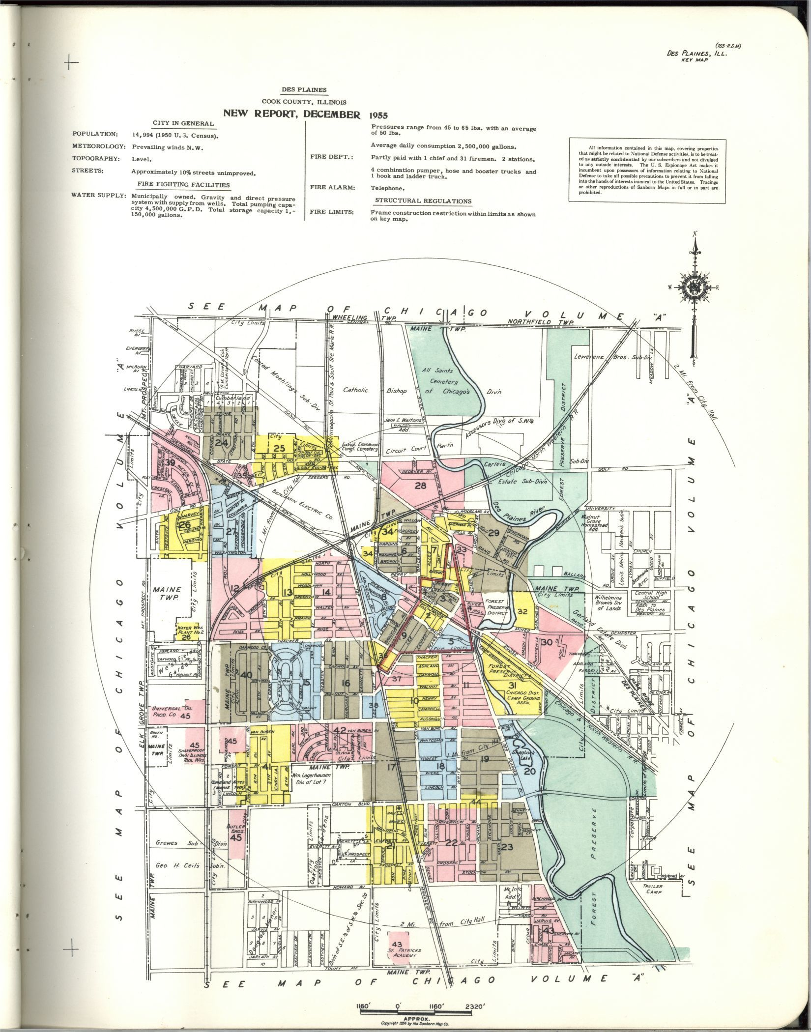 Sanborn Fire Insurance Map from Des Plaines, Cook County ... on west chicago il zoning map, lagrange park map, glendale hts map, river grove map, kewanee map, duquoin map, amboy map, mt prospect map, jefferson park map, skokie river map, naperville north high school map, chicago hts map, homewood map, worth map, east loop map, belvidere map, deerfield map, university of illinois at chicago map, cicero illinois map, schererville map,