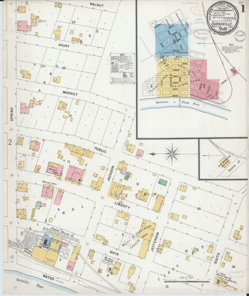 Evansville Illinois Map.Sanborn Fire Insurance Map From Evansville Randolph County