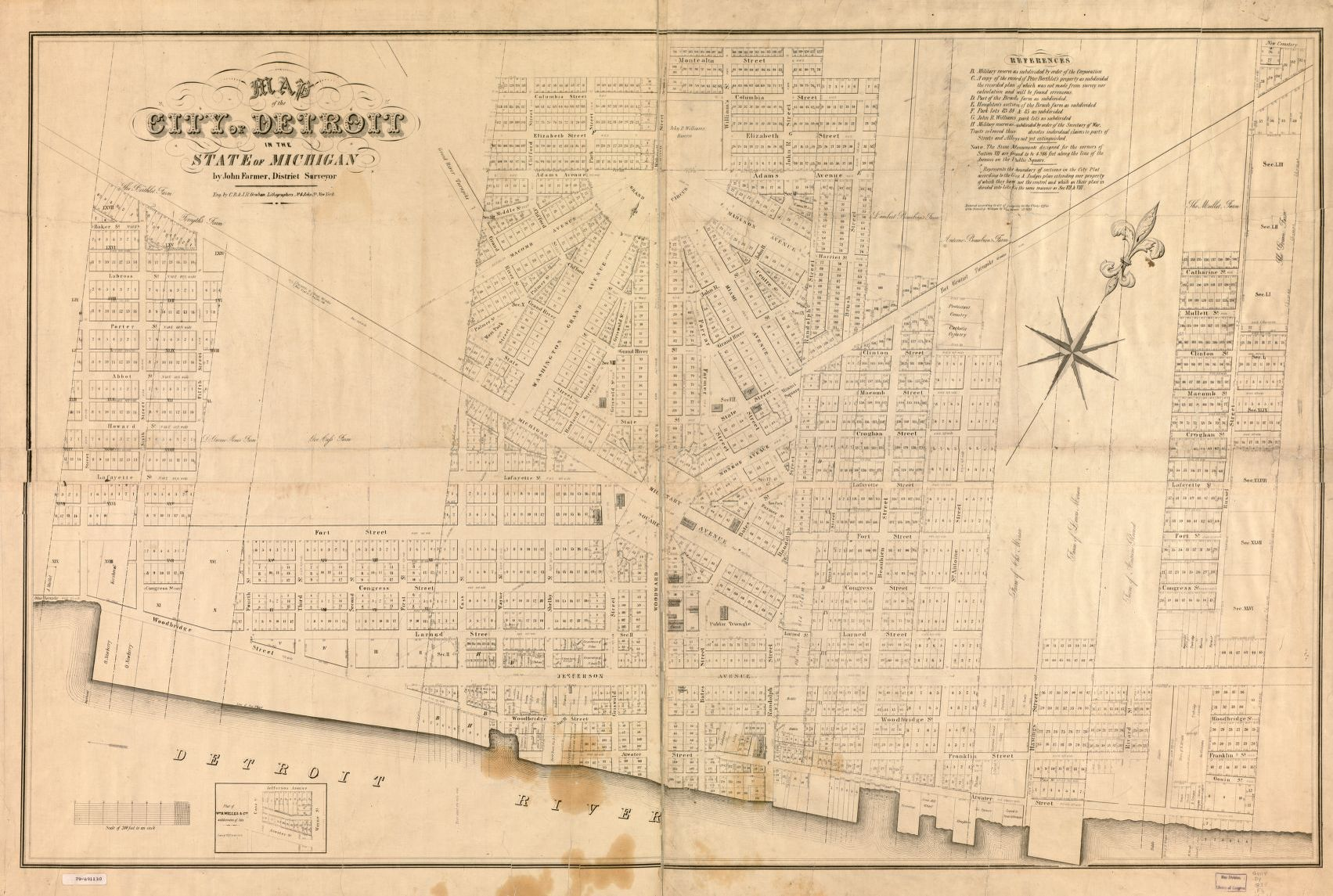 Map of the city of Detroit in the State of Michigan | Library of ...