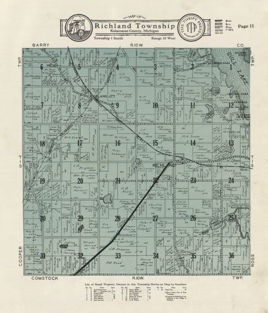 Map Of Richland Township Library Of Congress