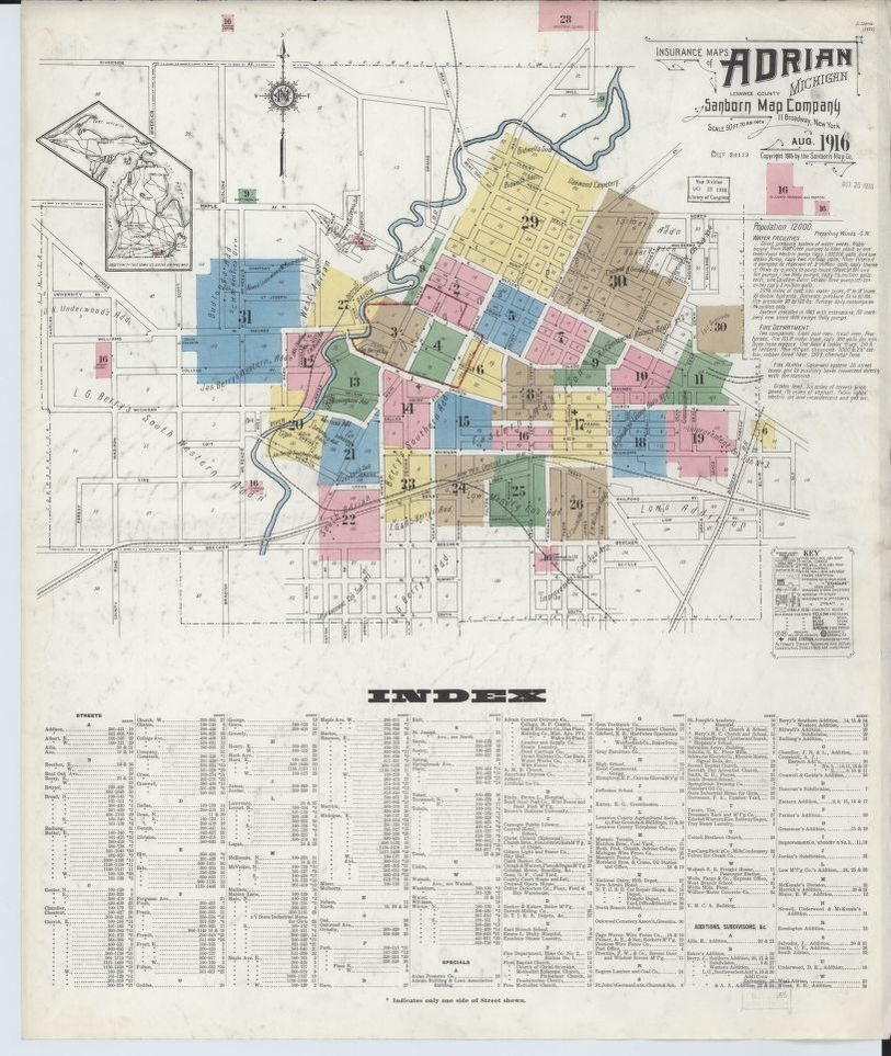 Map, Michigan, Lenawee County | Library of Congress