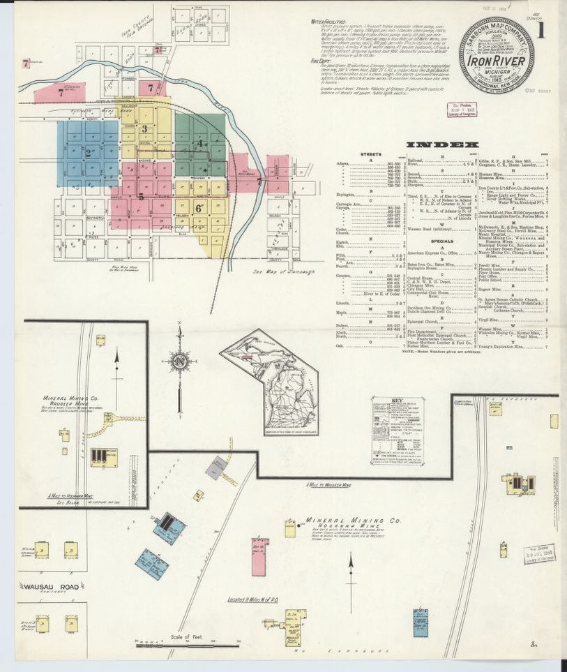 Sanborn Fire Insurance Map from Iron River, Iron County ...