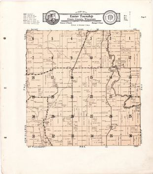 Map of Exeter Township Green County Wisconsin Library of Congress