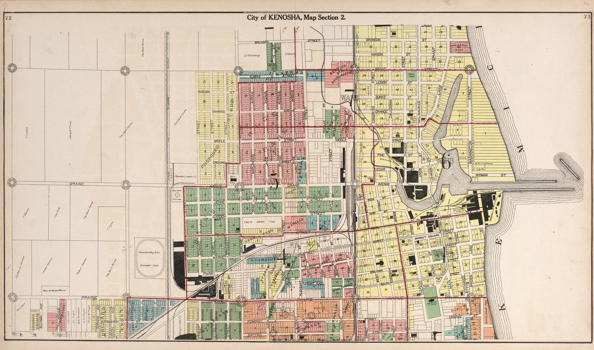 map  available online  1900 to 1999  plat book of racine