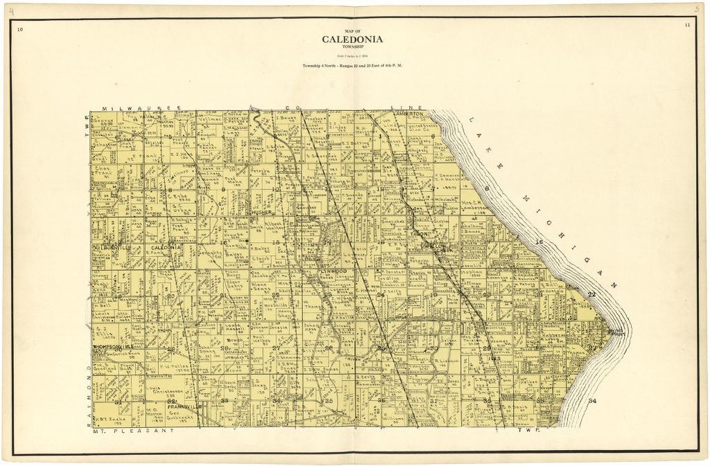 Map of Caledonia Township | Liry of Congress Caledonia Mi Map on