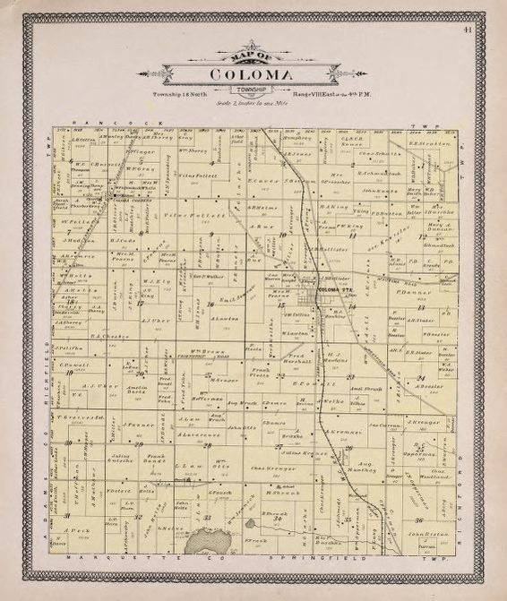 Coloma Wisconsin Map.Map 1900 To 1909 Atlas Of Waushara County Wisconsin Containing