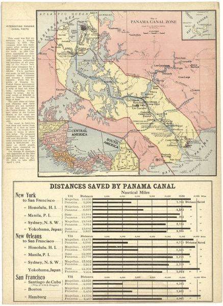 Map of Panama Canal Zone | Library of Congress