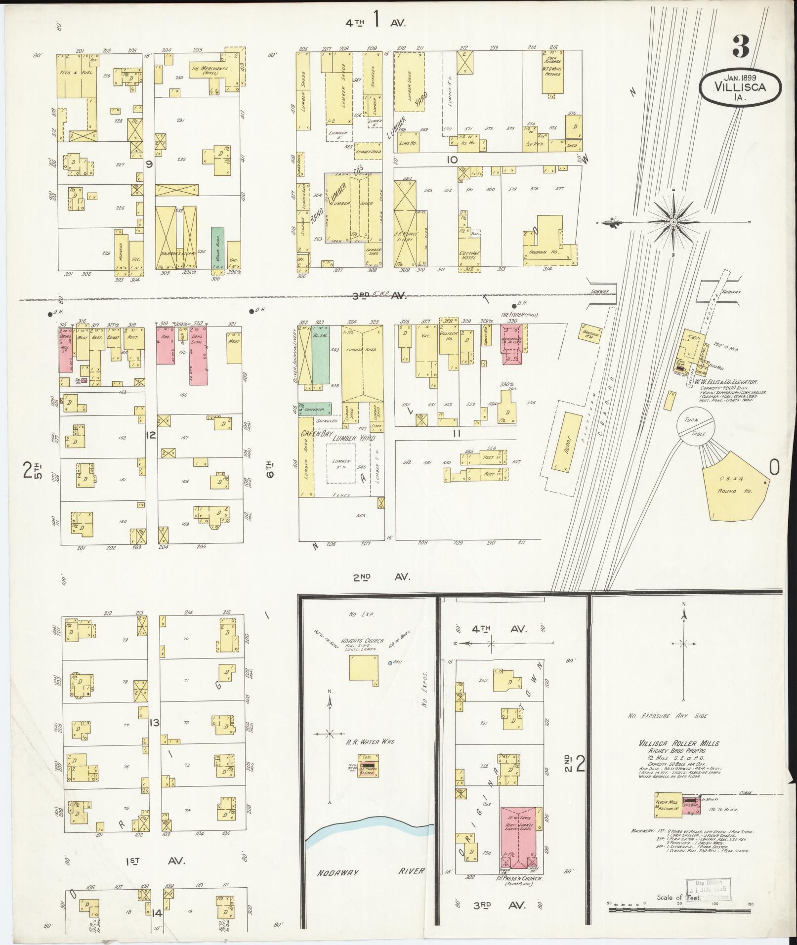 Sanborn Maps 1890 To 1899 Sanborn Fire Insurance Map From Villisca
