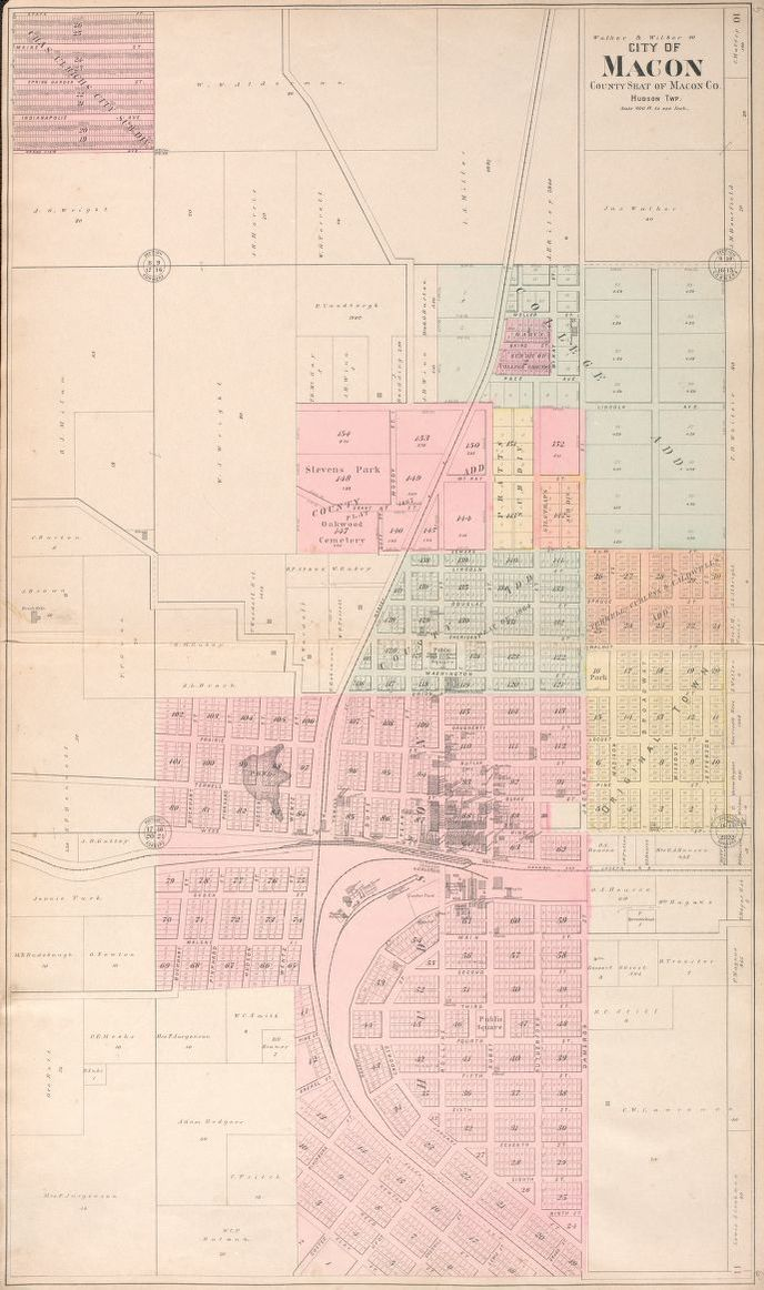 Map Standard atlas of Macon County Missouri including a plat
