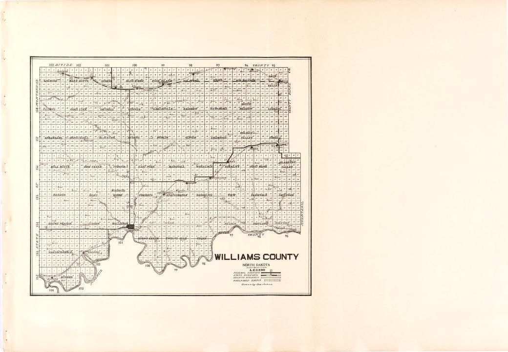 Map Atlas Williams County North Dakota GwmgLA - Nd land ownership map