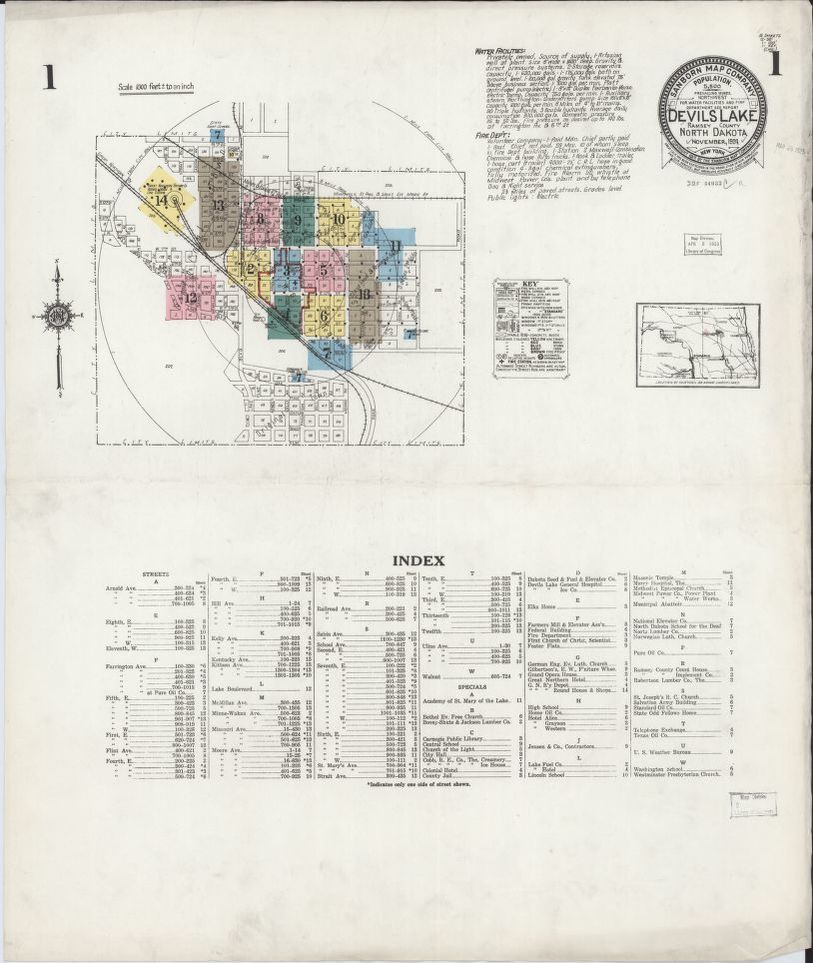 Devils Lake Nd Map on