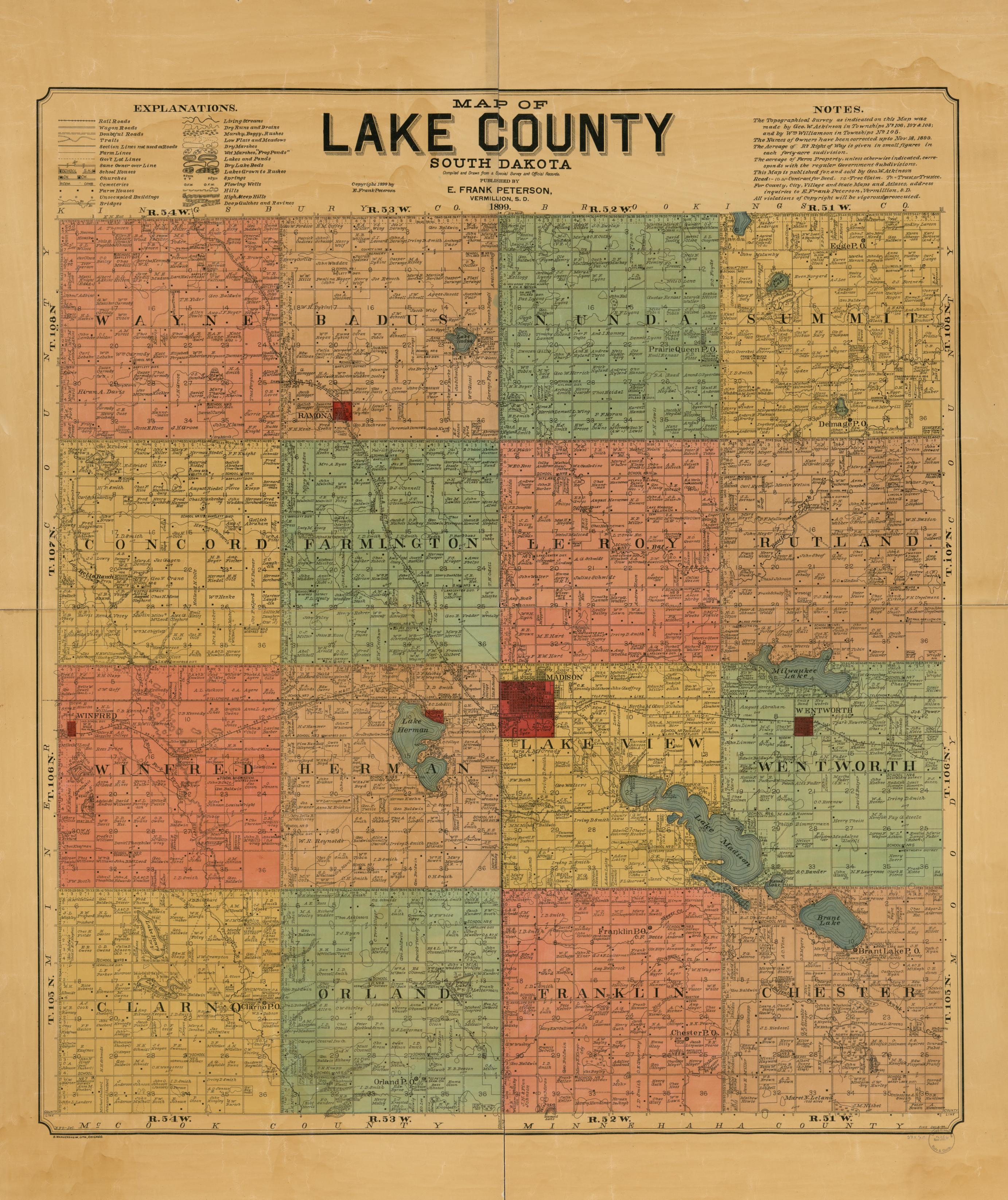 county map south dakota Map Available Online 1800 To 1899 South Dakota Library Of Congress county map south dakota