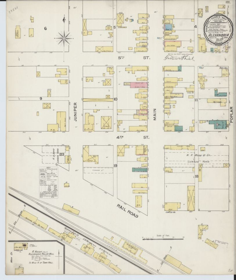 Map, Alexandria, Image | Library of Congress