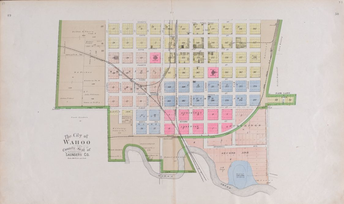 Map Plat Book Of Saunders County Nebraska Containing Carefully