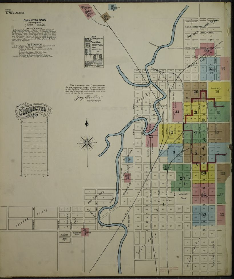 Sanborn Fire Insurance Map from Lincoln, Lancaster County ...