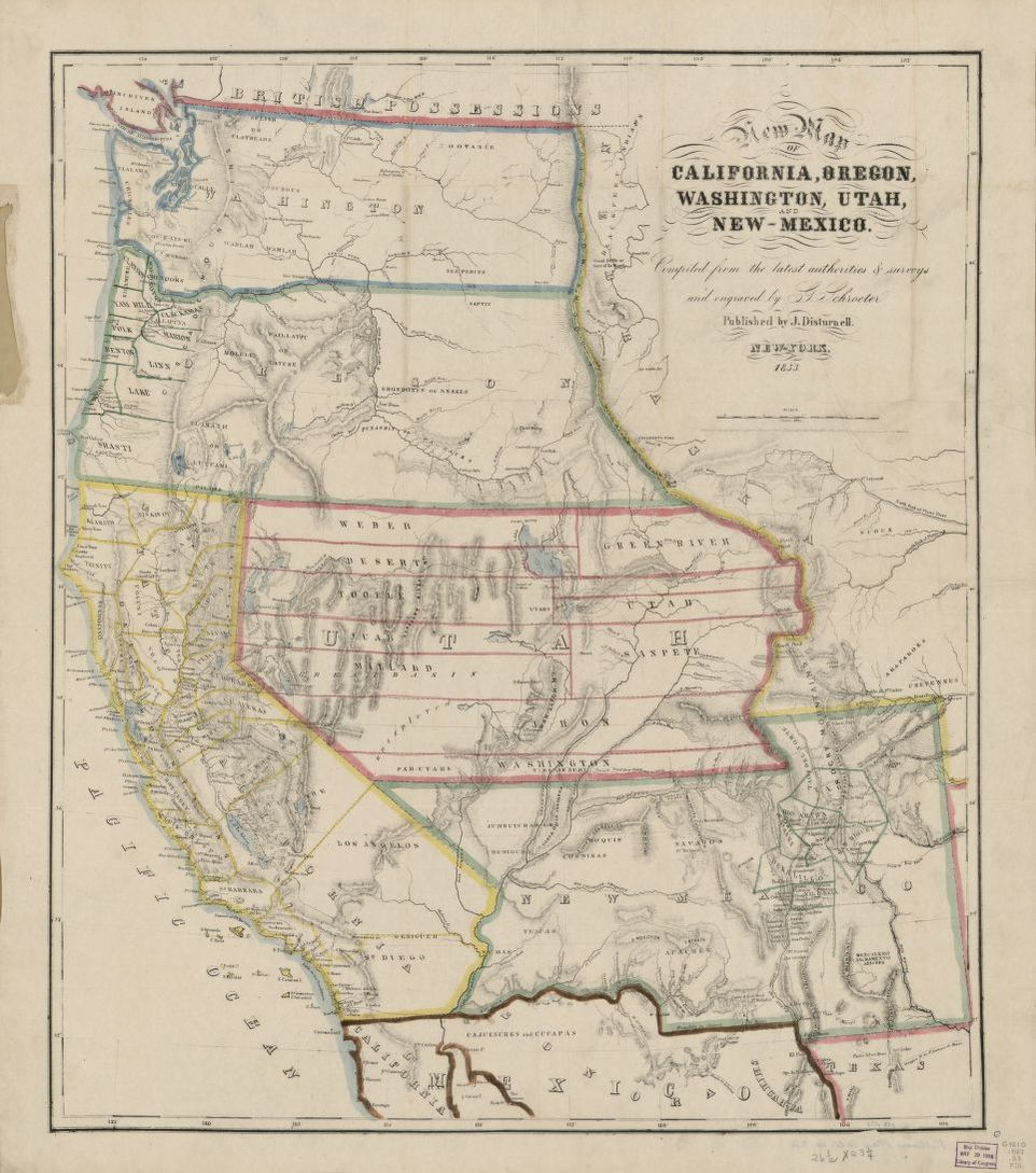 Map Of California To Oregon.New Map Of California Oregon Washington Utah And New Mexico