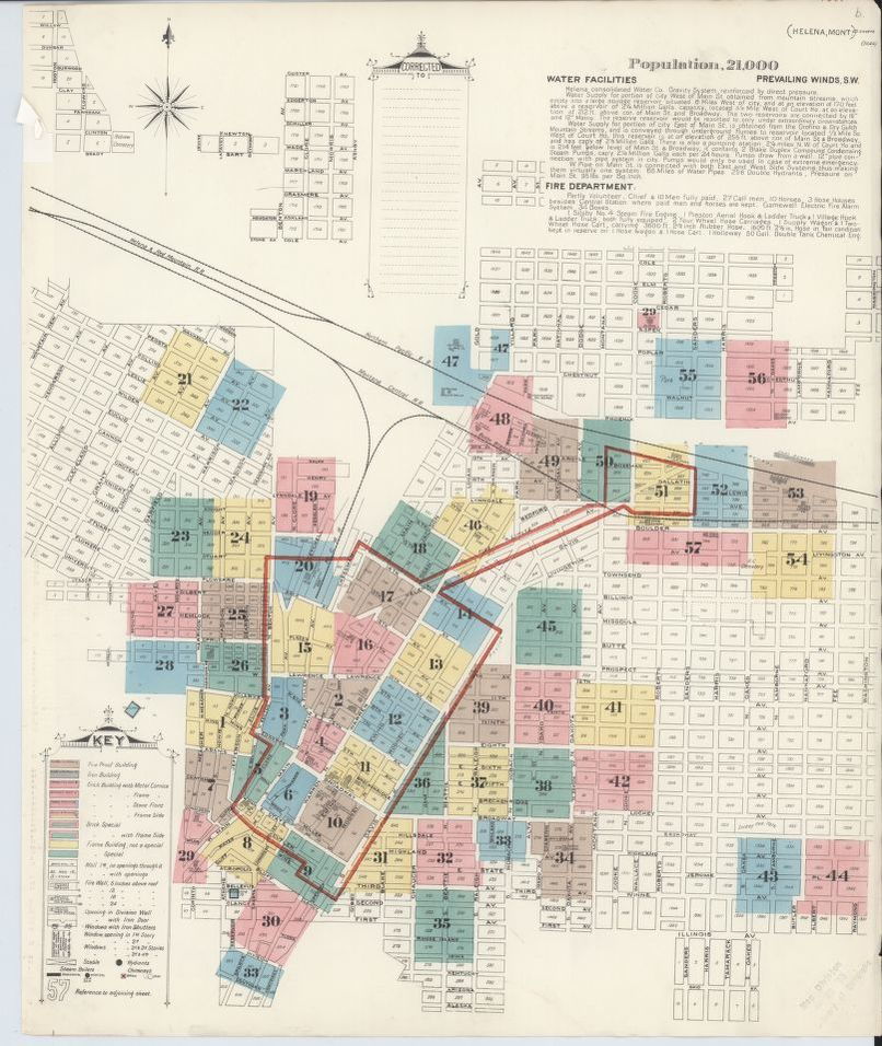 Sanborn Fire Insurance Map From Helena Lewis And Clark County