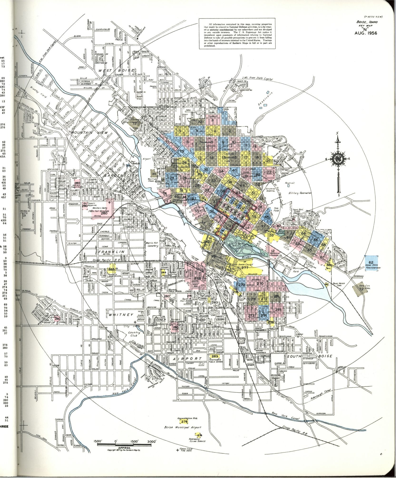 Sanborn Maps, Ada County, Idaho, Boise | Library of Congress