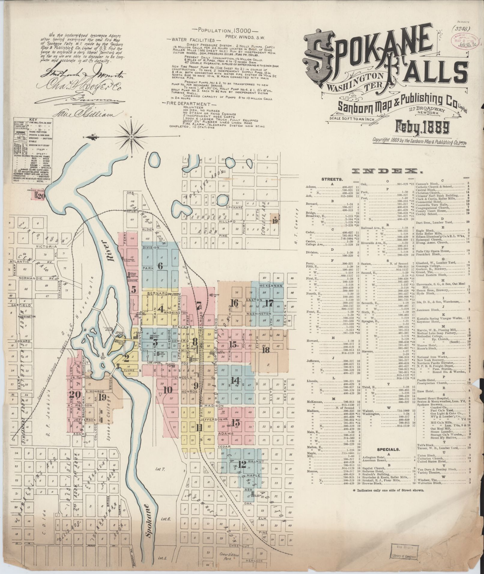 Spokane Wildfire Map.Sanborn Fire Insurance Map From Spokane Spokane County Washington