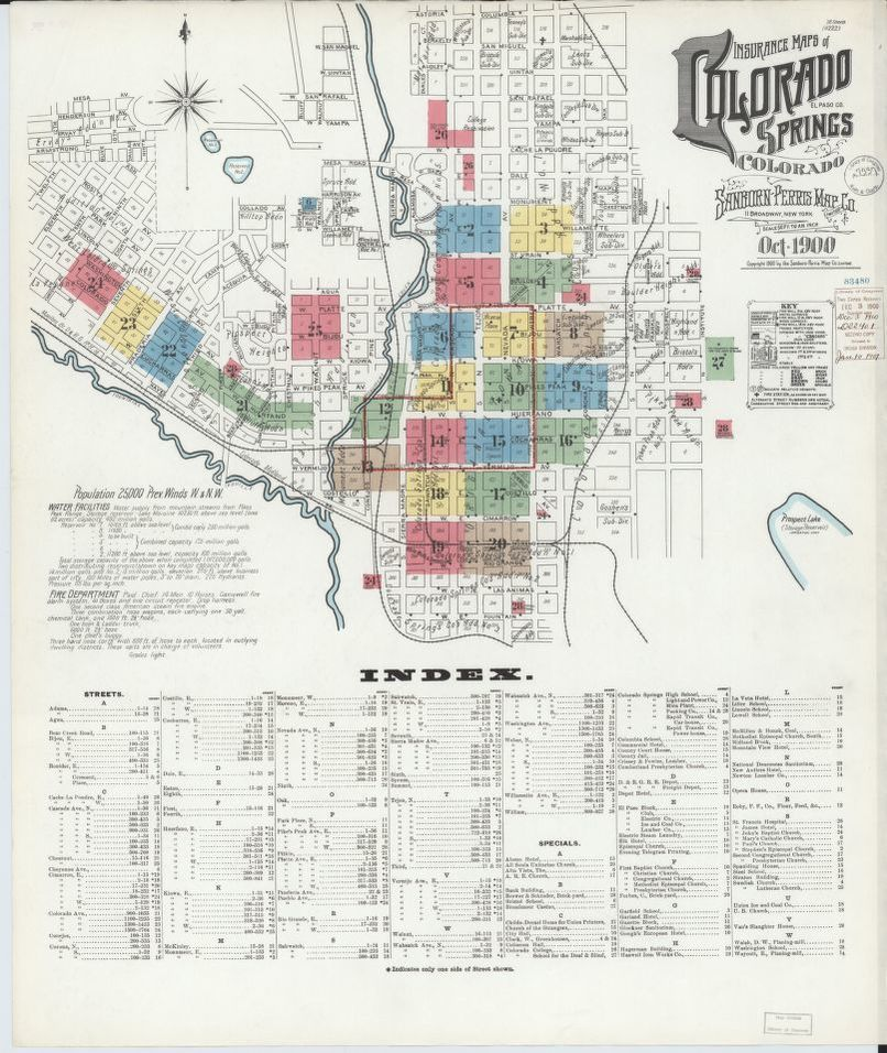 Sanborn Fire Insurance Map from Colorado Springs, El Paso ...