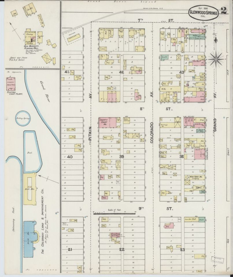Image 2 of Sanborn Fire Insurance Map from Glenwood Springs ... on