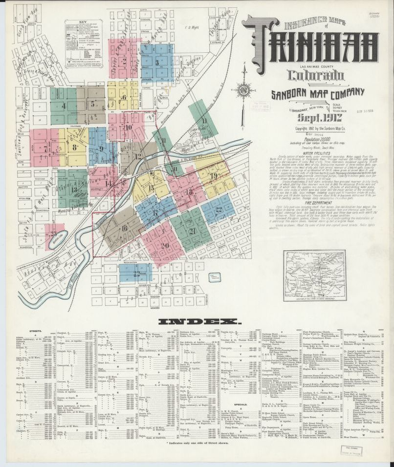 Sanborn Fire Insurance Map from Trinidad, Las Animas County ... on las animas colorado, las animas high school, rocky mountain national park road map, co road map, pueblo west road map, sterling road map, las animas county courthouse, simpson road map, vail road map, central city road map, fort collins road map, las animas county plat map, las animas county records, longmont road map, roosevelt national forest road map, estes park road map, lafayette road map, broomfield road map, mount evans road map, quay county nm satlite map,