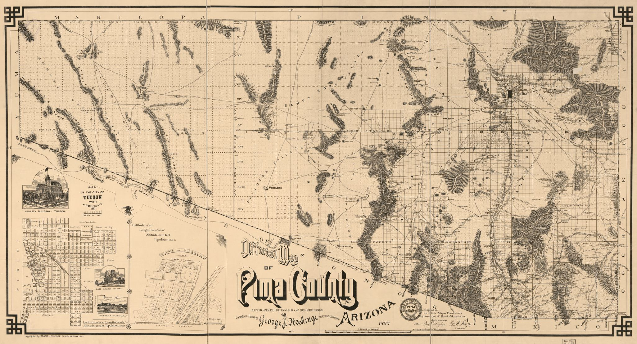Map, Available Online, 1800 to 1899, Arizona | Library of