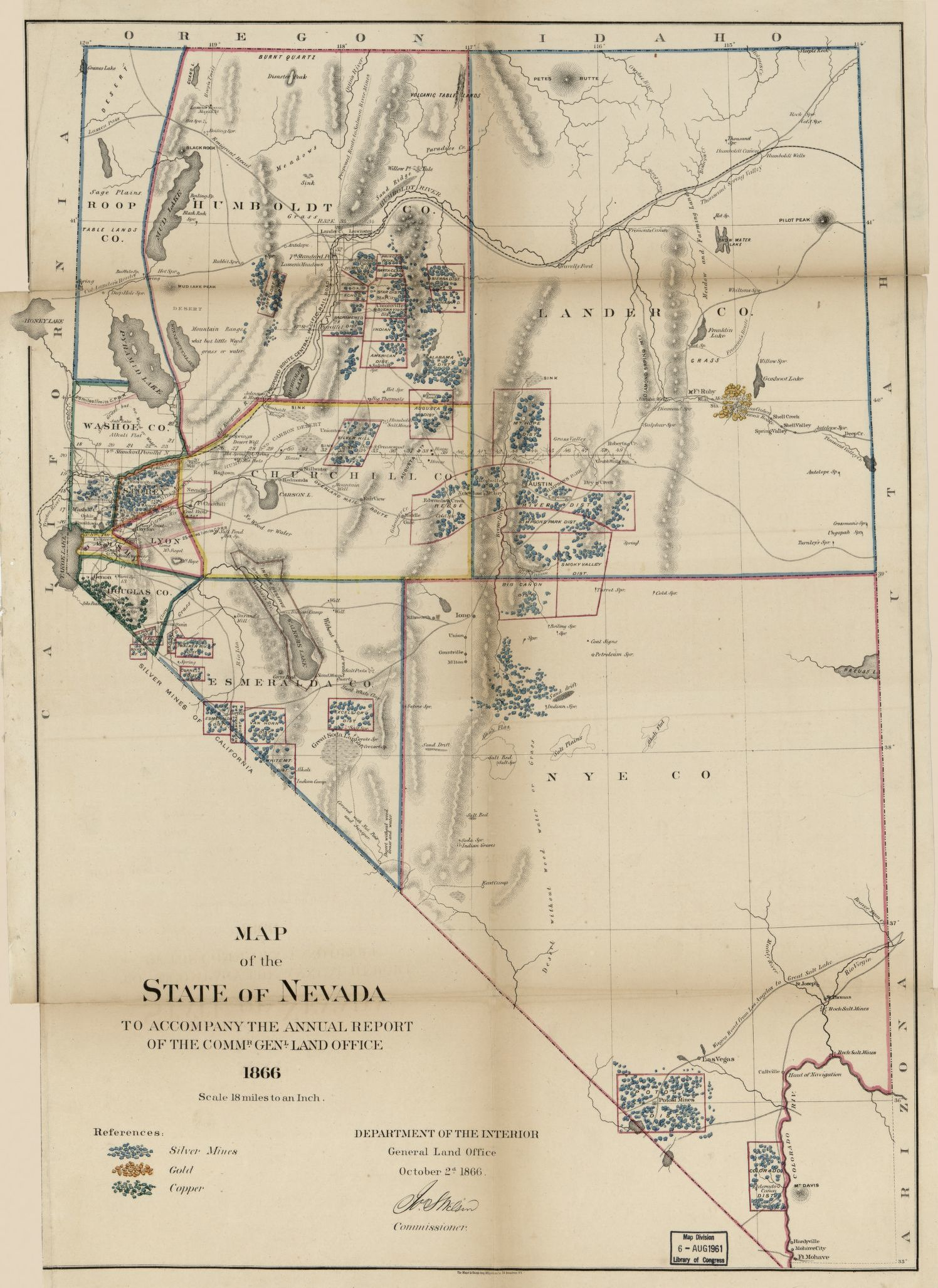 Map, Gold Mines and Mining | Library of Congress