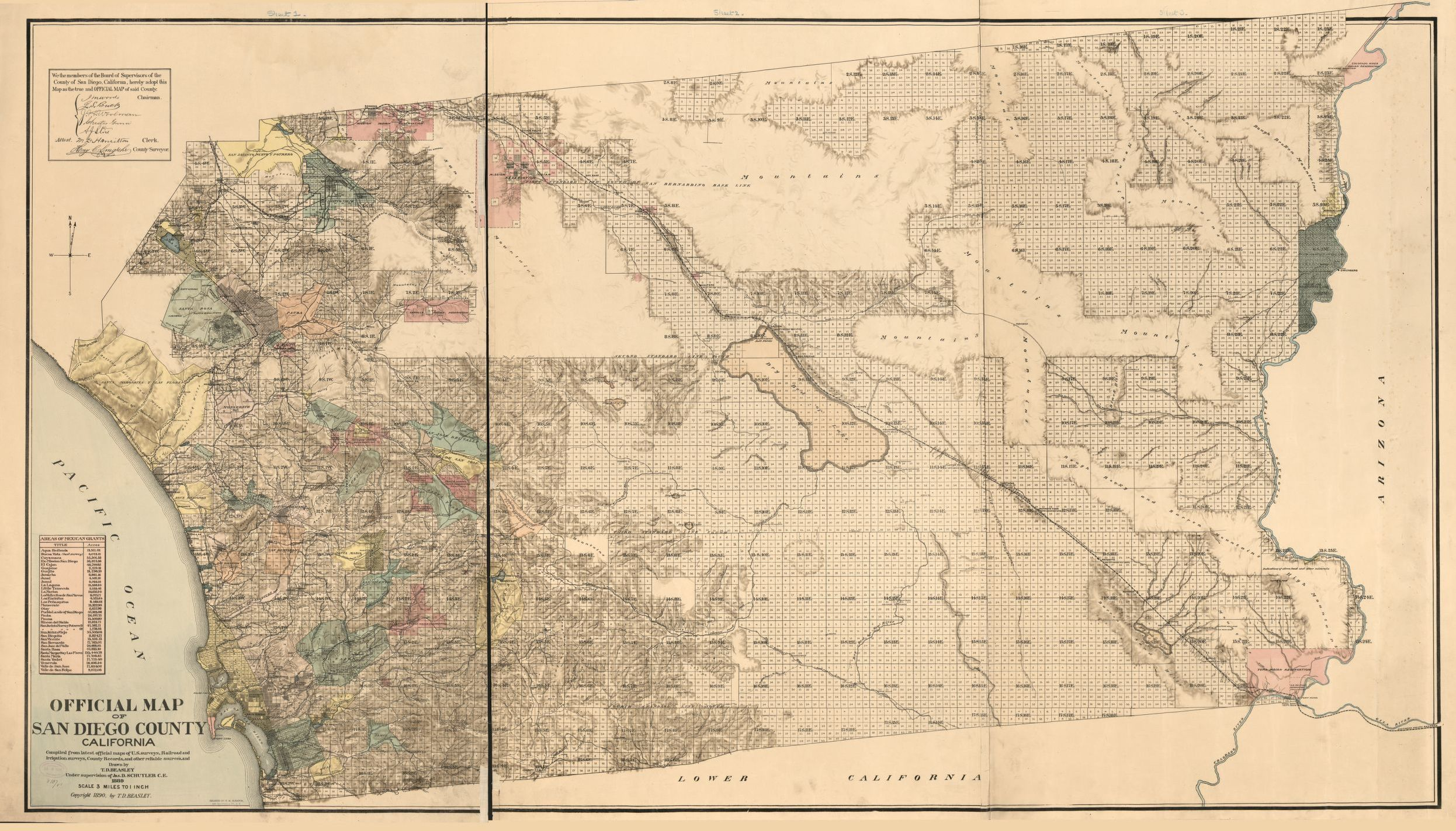 California Map San Diego County.Official Map Of San Diego County California Compiled From Latest