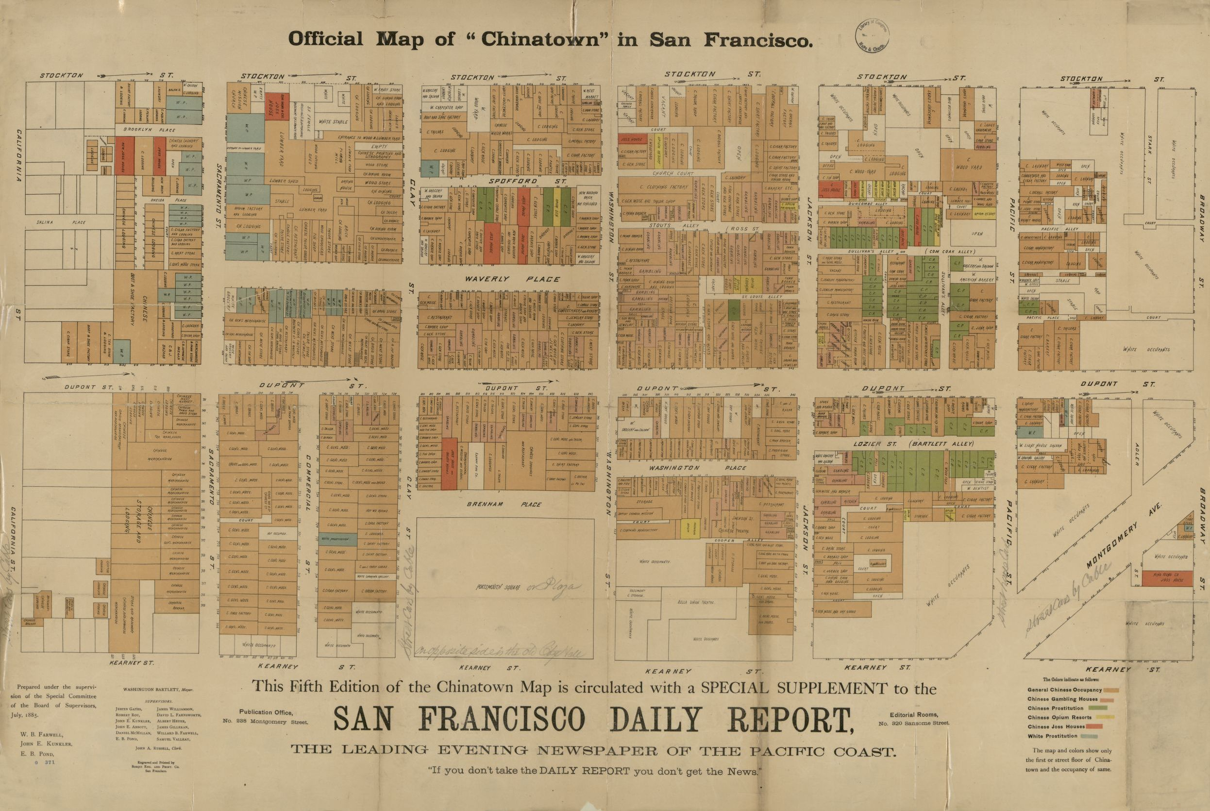 picture regarding San Francisco Maps Printable called Formal map of \