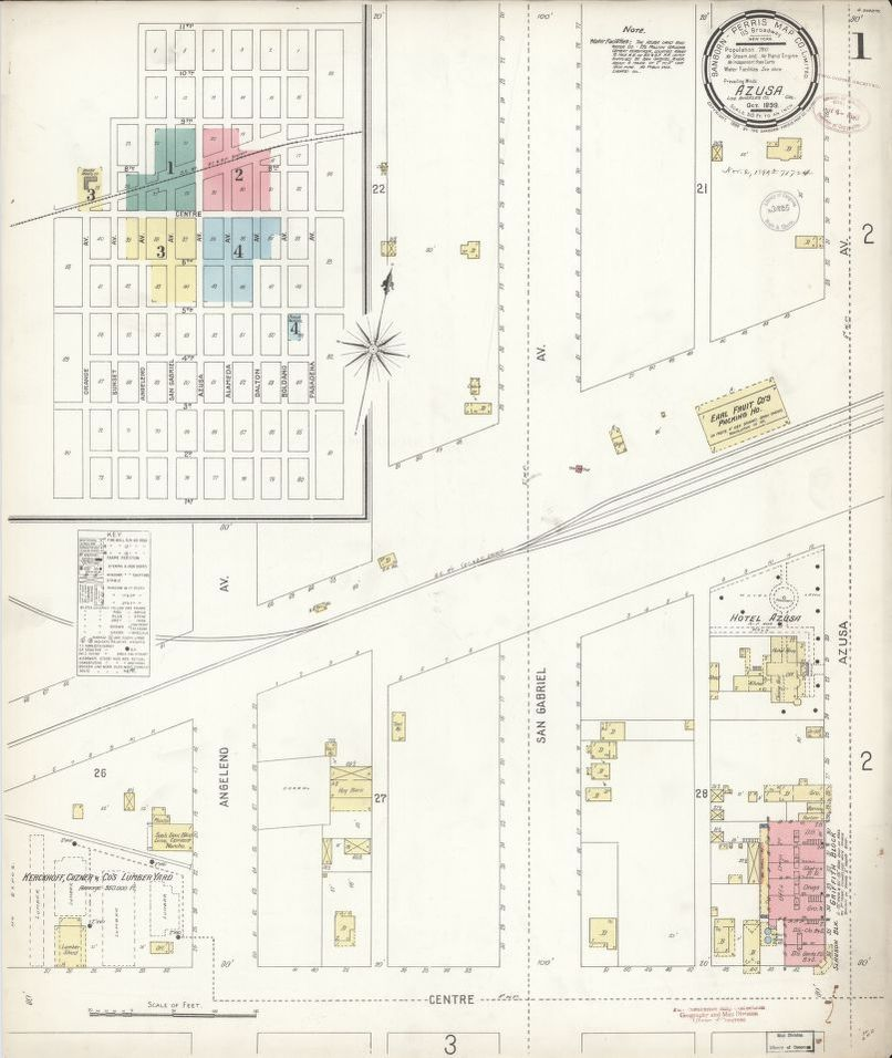 Sanborn Fire Insurance Map from Azusa, Los Angeles County ... on