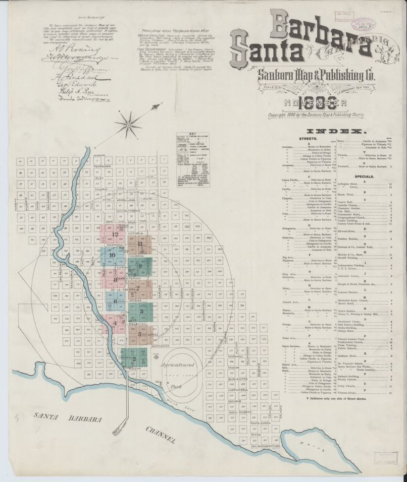 Map, California, Santa Barbara | Liry of Congress on des moines new mexico map, goleta zip code map, corona street map, central california road map,