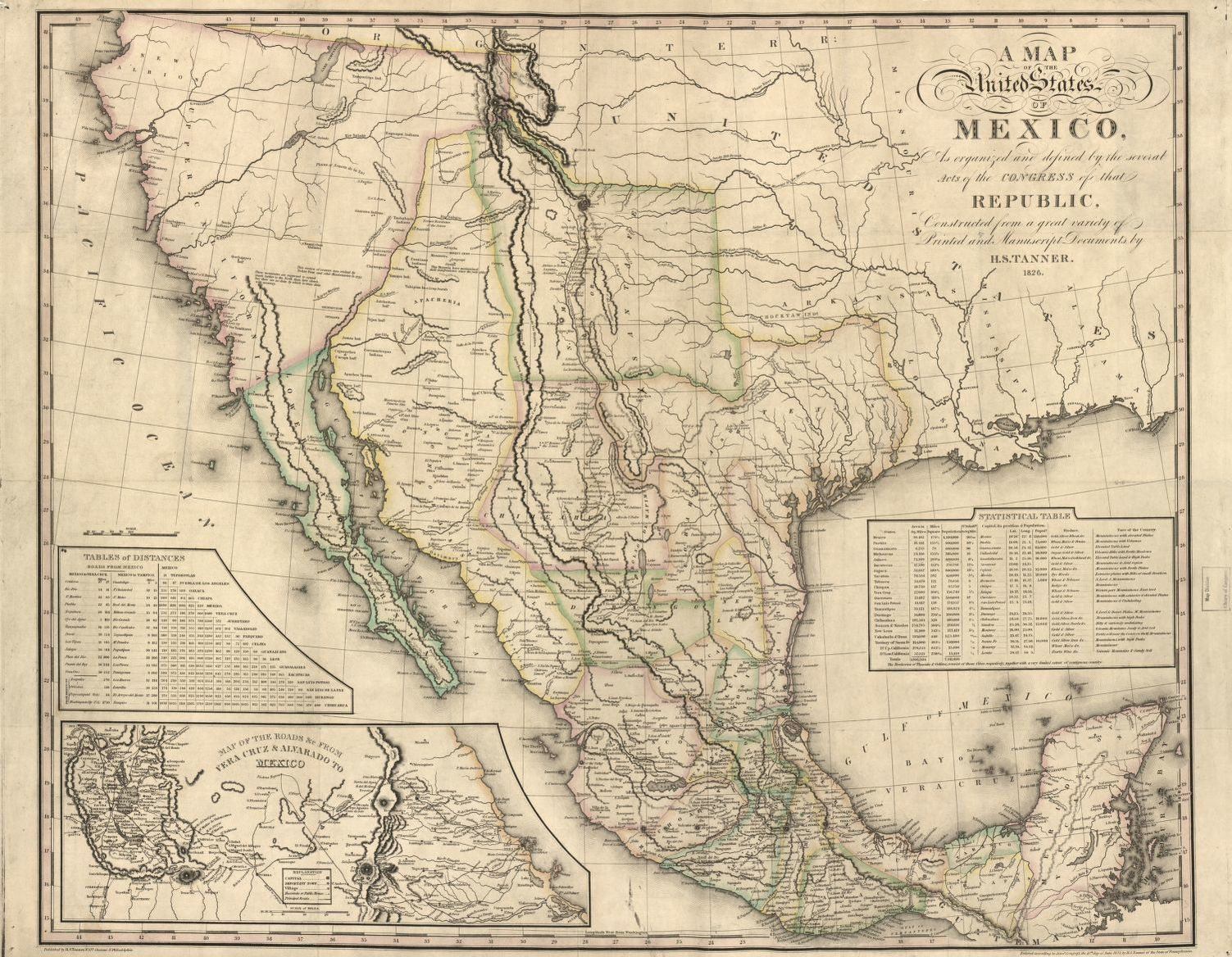 A map of the United States of Mexico : as organized and ...