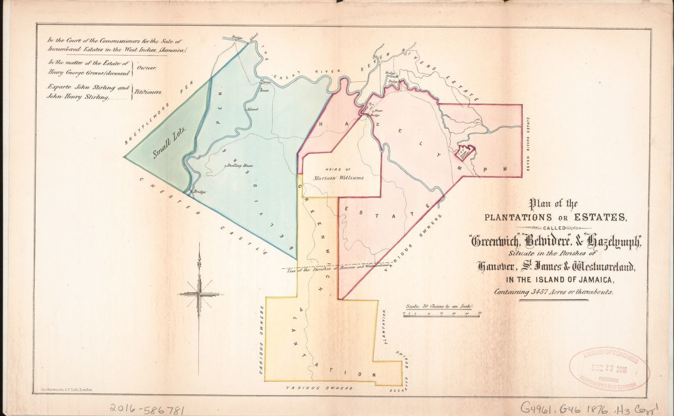 Map Available Online 1870 To 1879 Jamaica Particulars Of