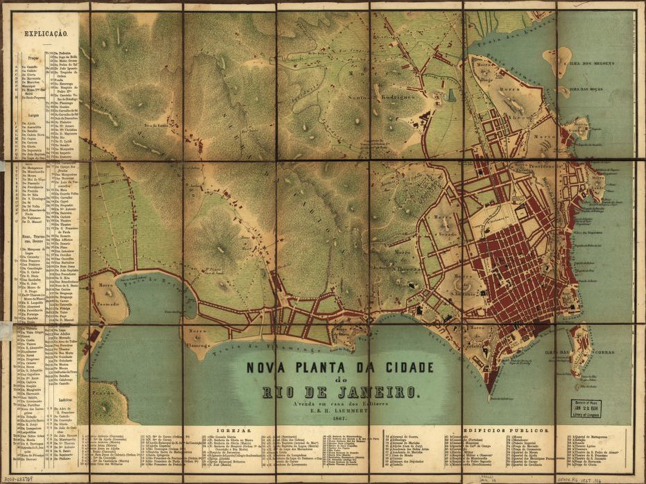 Nova planta da cidade do Rio de Janeiro. | Library of Congress