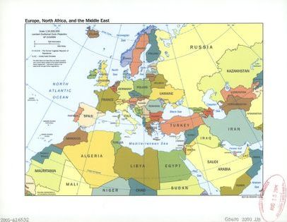 Map Of Europe And North Africa Europe, North Africa, and the Middle East. | Library of Congress