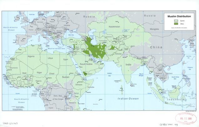 Muslim distribution : [Islamic countries]. | Library of Congress