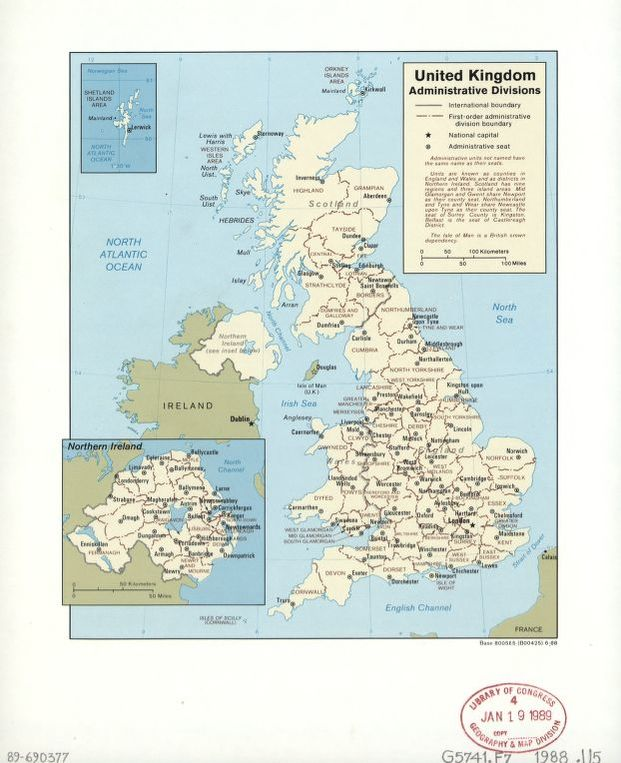 United Kingdom administrative divisions Library of Congress