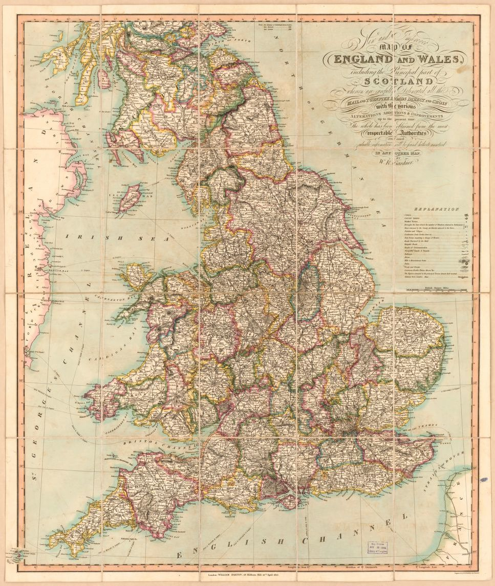 Map Of England Zoom.New And Improved Map Of England And Wales Including The Principal