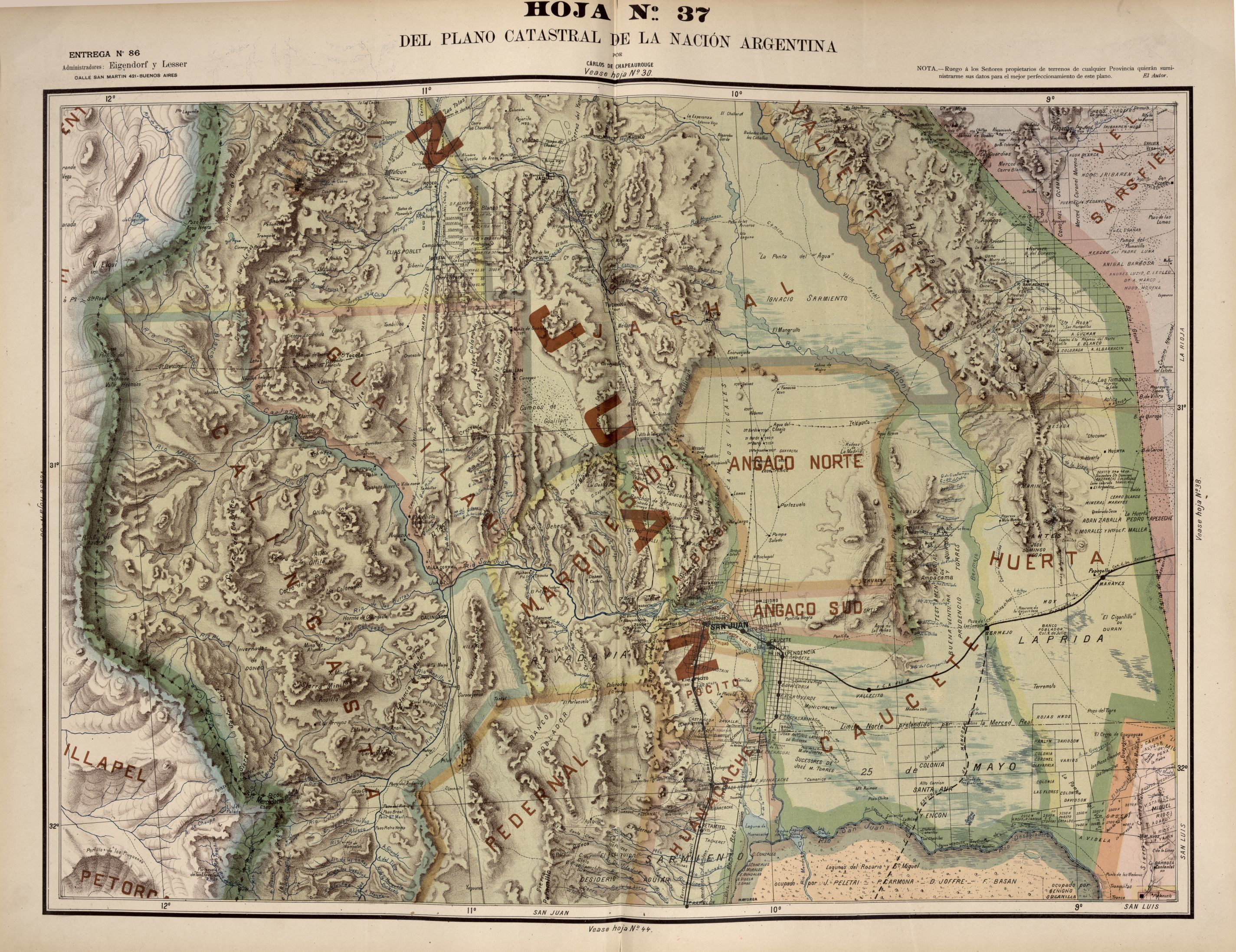 Atlas mexicano. Maps dated 1884 to 1886.
