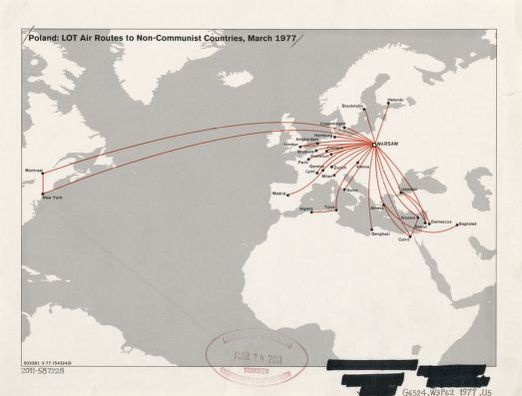 Poland--LOT air routes to non-communist countries : March ...