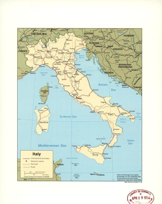 Map Italy Library of Congress