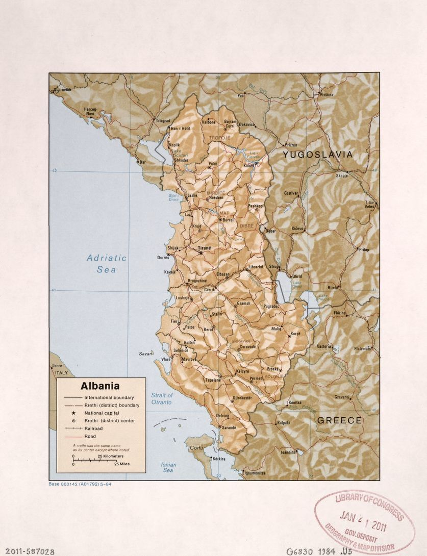 Search results for Map Albania Library of Congress