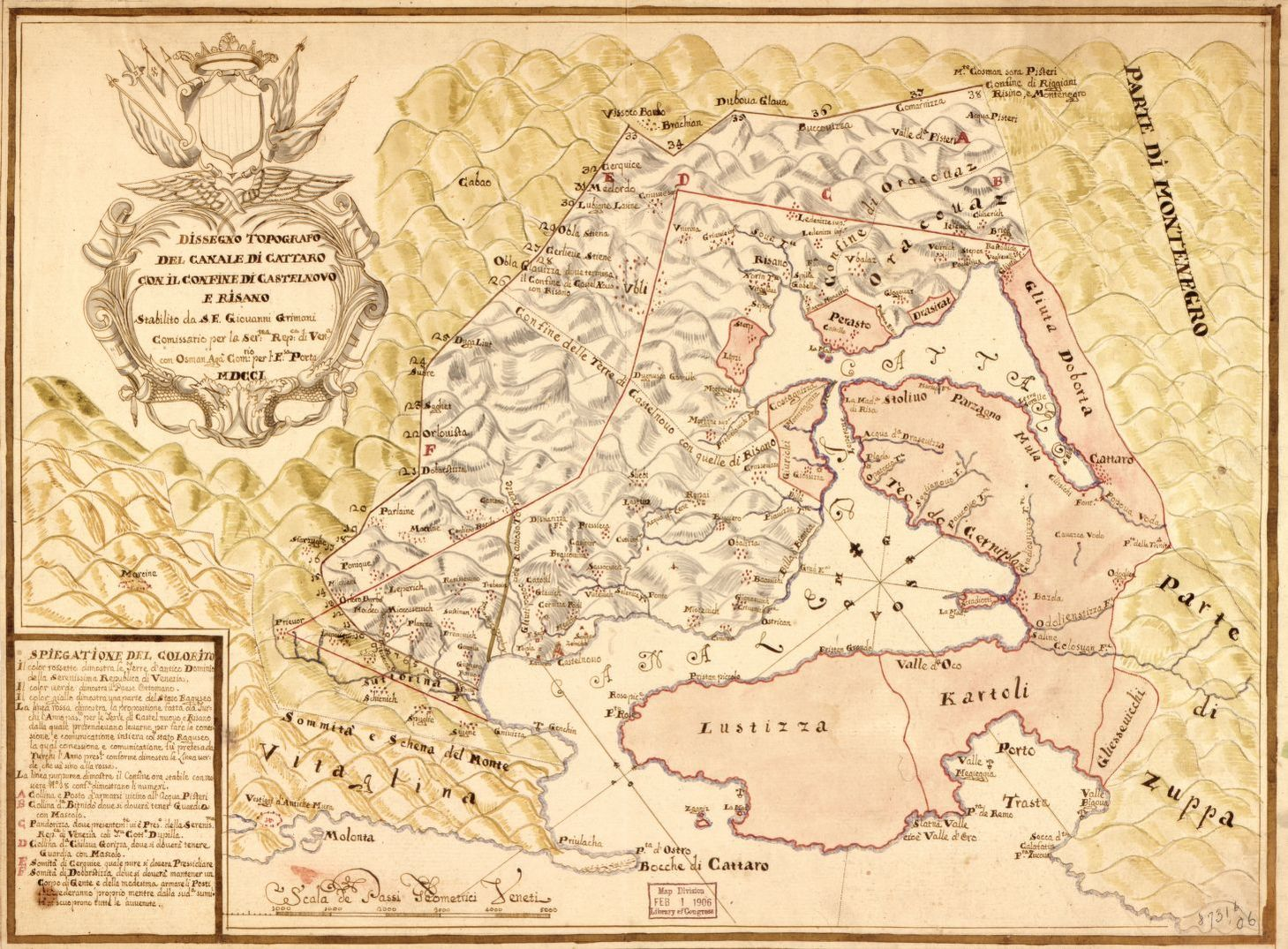 Map Montenegro Library Of Congress