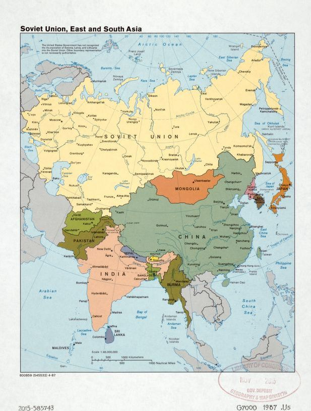General Maps, Available Online, Soviet Union | Library of ...