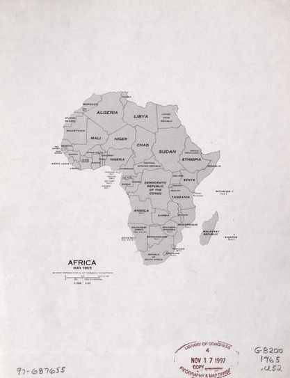 Africa may 1965 library of congress map africa may 1965 ccuart Images