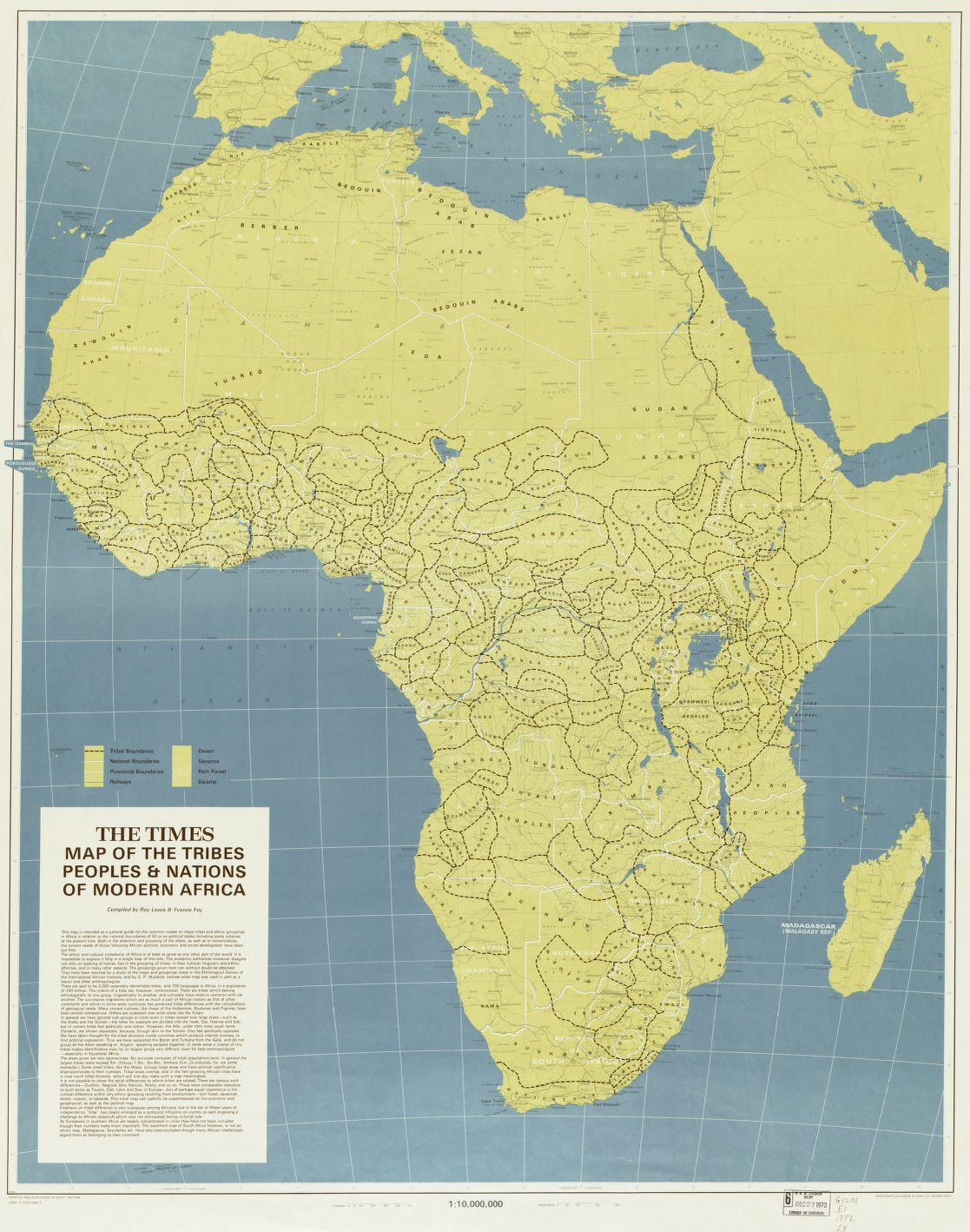 The Times map of the tribes, peoples, & nations of modern Africa ...