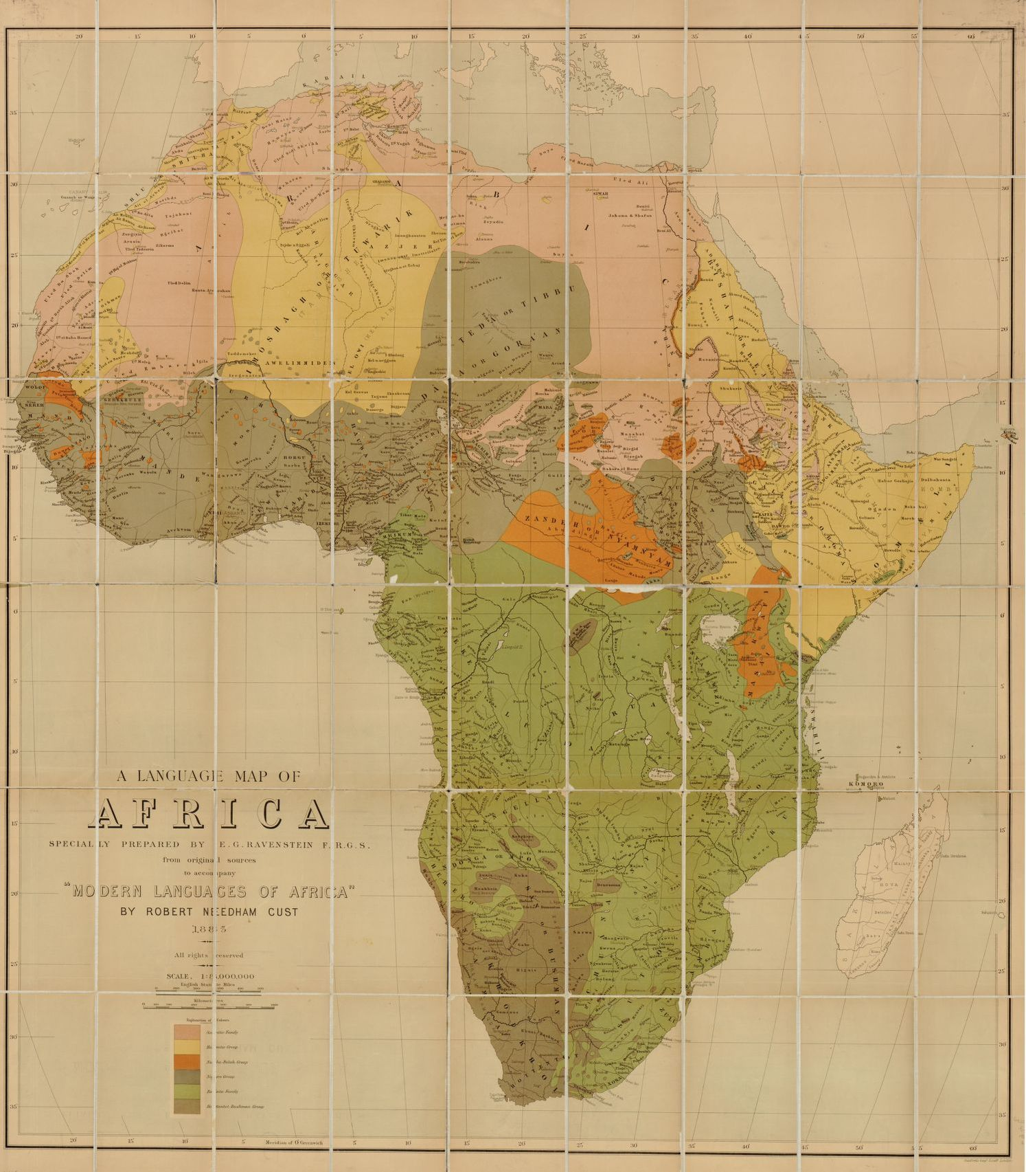 A Language Map Of Africa Library Of Congress