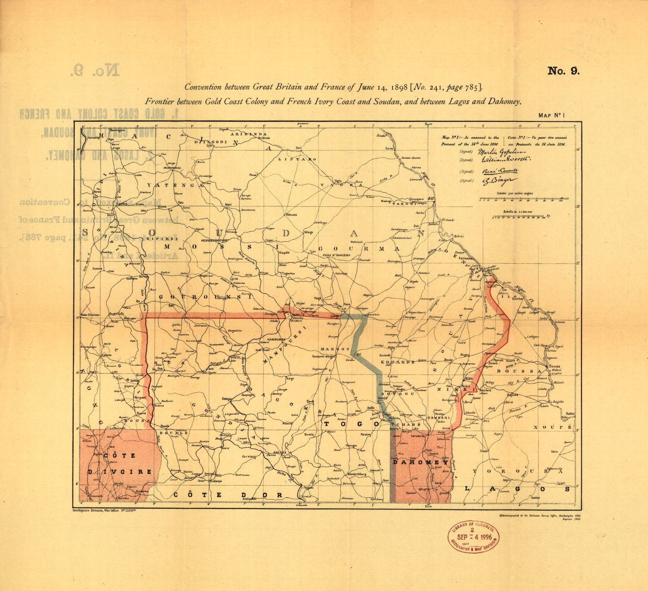 Picture of: Frontier Between Gold Coast Colony French Ivory Coast Soudan Etc Library Of Congress
