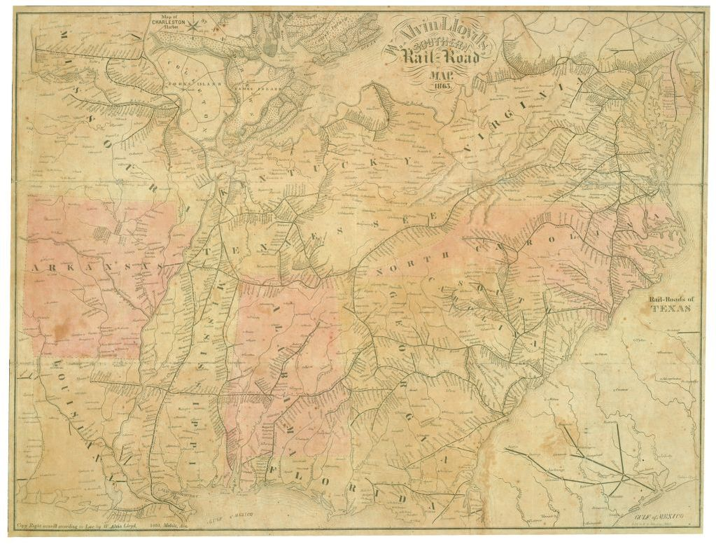 Map Of Louisiana And Texas With Cities.Map Southern States Image Library Of Congress